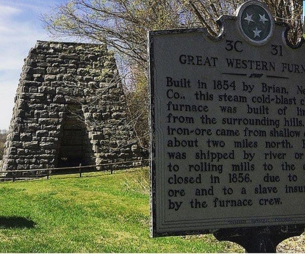 Great Western Iron Furnace Land between the lakes history