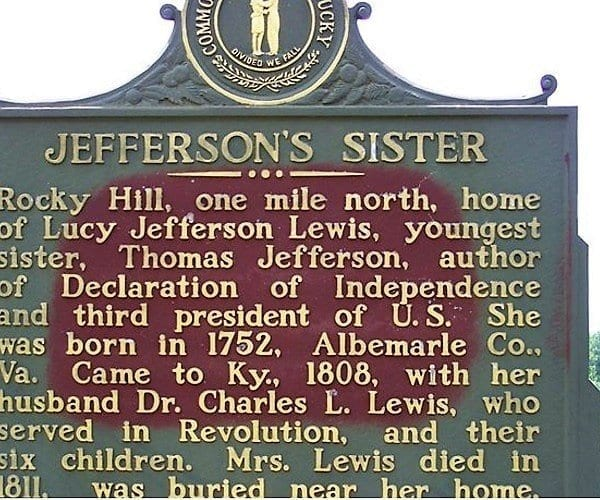 Lucy Jefferson Lewis Livingston County Historic Marker
