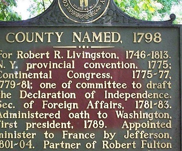 Robert R Livingston Livingston County KY Historic Marker