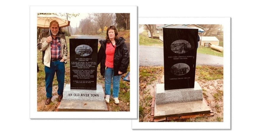 Carrsville, KY: Old River Town History Monument Dedication